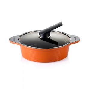 Кастрюля низкая Happycall Ceramic Pot 2.8л