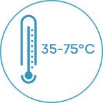 Профессиональная сушилка (дегидратор) для овощей и фруктов Rawmid Dream PRO 2 - температура сушки