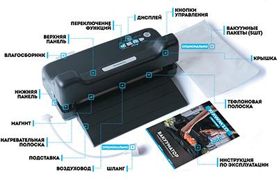Комплект вакууматора RAWMID Future